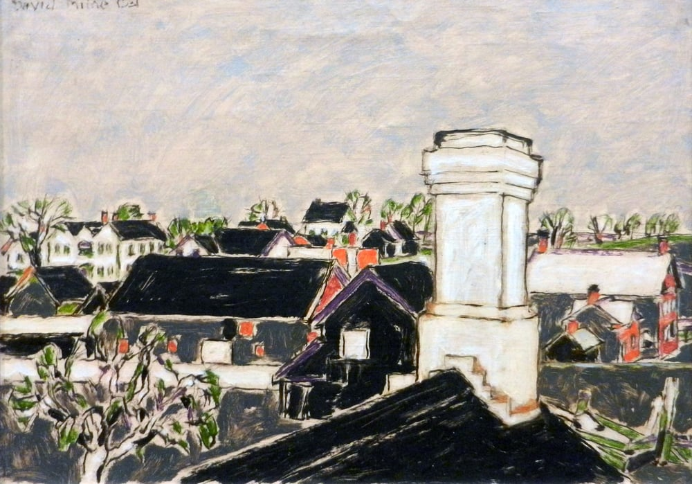 David Milne, Kitchen Chimney, 1931, oil on canvas