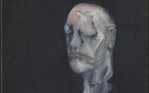 Study for Portrait II (after the Life Mask of William Blake), (1955), by Francis Bacon