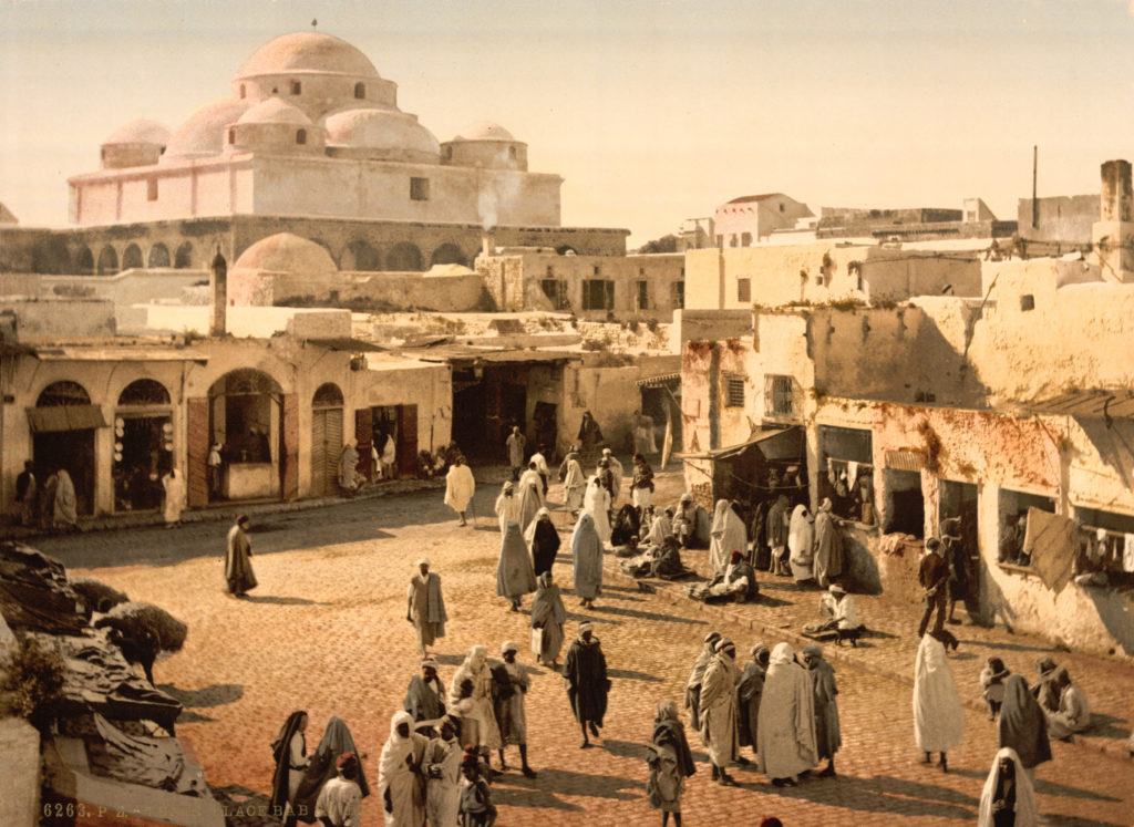 Bab Suika-Suker Square, Tunis, Tunisia, taken around 1899