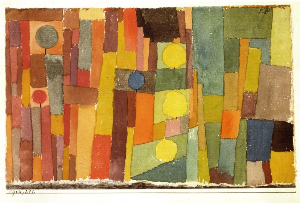 In the Style of Kairouan (1914) by Paul Klee.