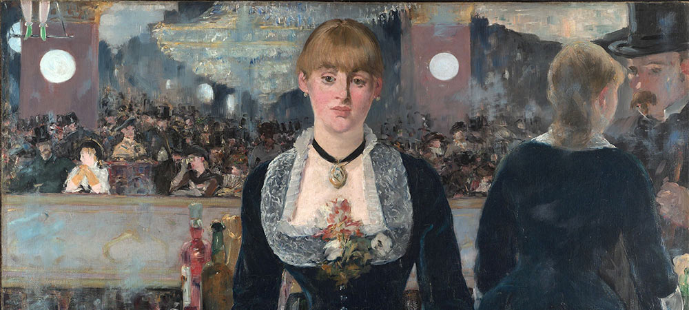 A Bar at the Folies-Bergère (1882) by Édouard Manet (detail)