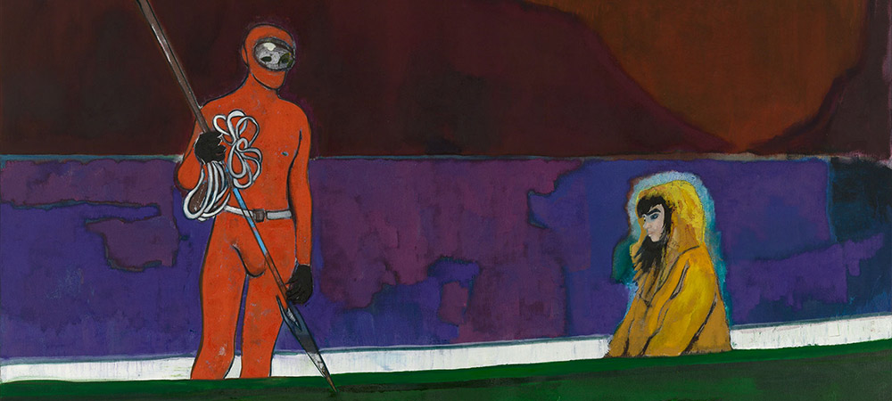 Peter Doig Spearfish (Red Moon), 2019, (detail)