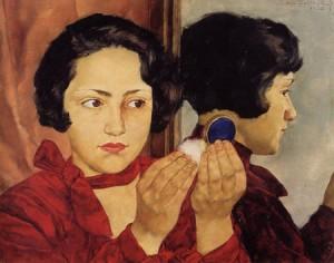 Rysk flicka med puderdosa, 1928