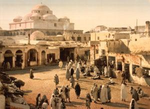 Bab Suika-Suker Square, Tunis, Tunisia, taken around 1899