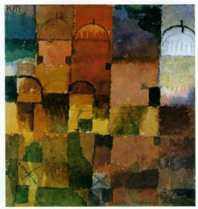 Red and White Domes (1914) by Paul Klee