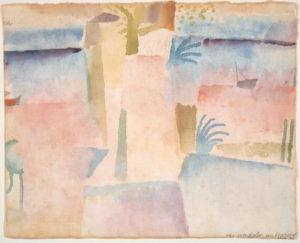 View Towards the Port of Hammamet (1914) by Paul Klee