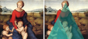 Madonna in the Meadow (1505–1506), by Raphael (detail)