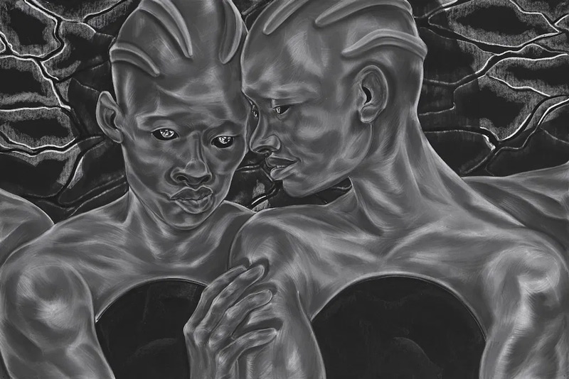 Stories of Creation, Stories For Our Time in Toyin Ojih Odutola's A Countervailing Theory, review at Riot Material